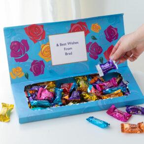 Personalised Cadbury Chocolate Roses Mailbox Selection 580g