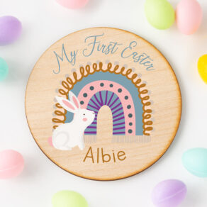 Personalised My First Easter Photo Prop Plaque