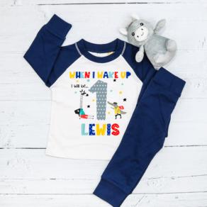 Personalised Animal Heroes Birthday Eve Pyjamas