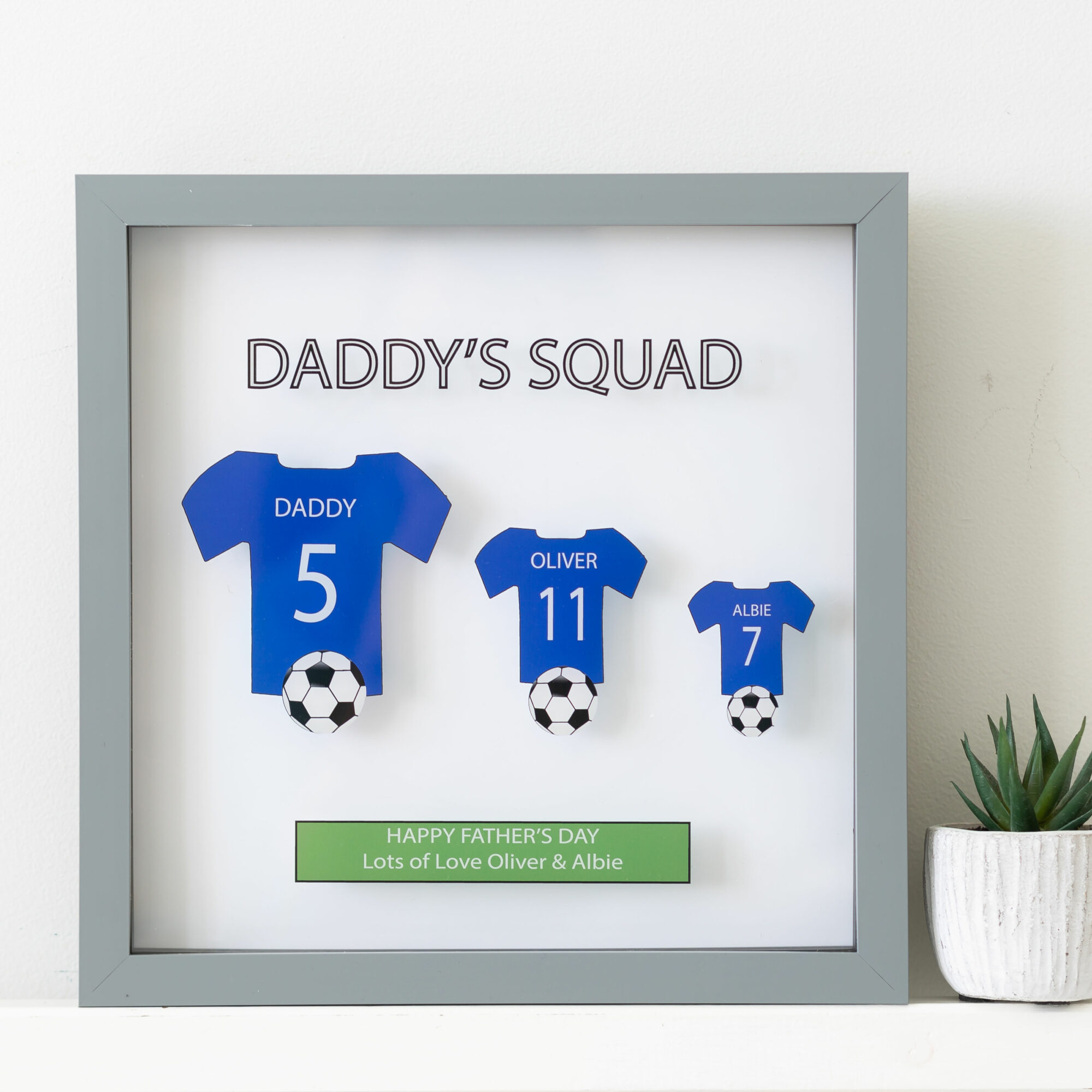 Personalised Any Colour Family Sports T-shirt Frame