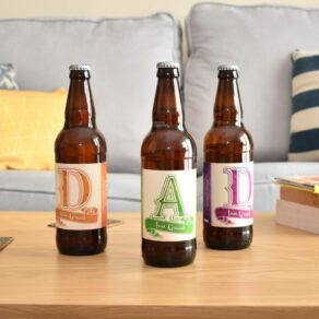 Personalised DAD Pack of 3 Beer Set