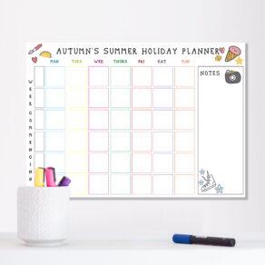 Personalised Kids Summer Holiday Planner
