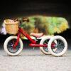 Personalised Kids Vintage Red 2 in 1 Balance Trybike