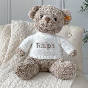 Personalised Steiff Honey Bear Large Soft Toy
