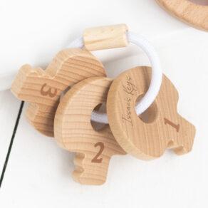 Bambino Eco-Friendly Wooden Keys Baby Toy