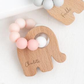 Bambino Eco-Friendly Pink Elephant Teething Toy (Copy)