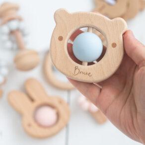 Bambino Eco-Friendly Blue Bear Baby Teething Toy