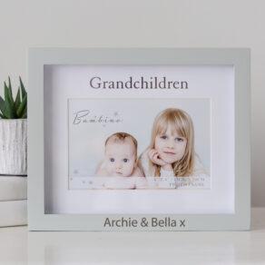 Personalised Bambino Grandchildren Frame in Gift Box
