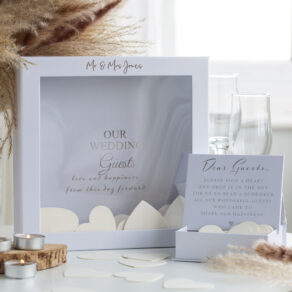 Personalised Wedding Guest Token Message Box