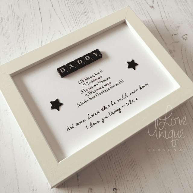 Small Scrabble Frame - 'I love Daddy'