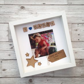I Love (Heart) Daddy Personalised Scrabble Frame
