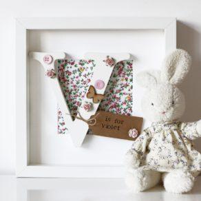 Wooden Letter Floral Frame