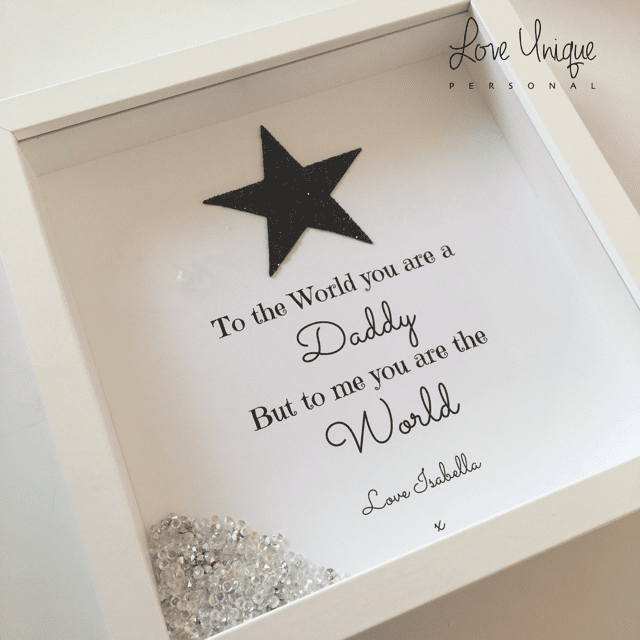 'To The World You Are A Daddy.....' Personalised Frame