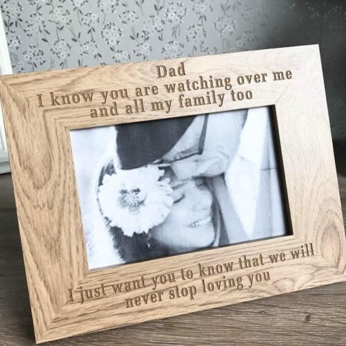 Wooden Personalised Remembrance Frame