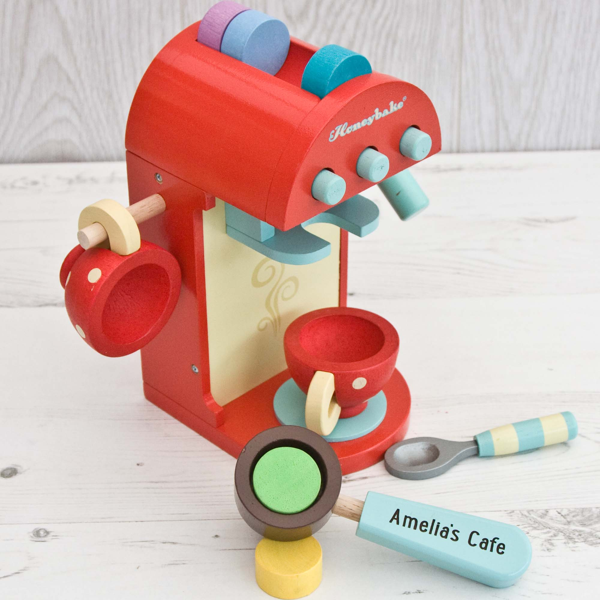 Honeybake Cafe Coffee Machine Personalised Toy